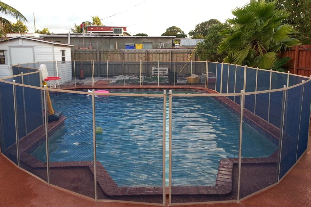 Blue Swimming Pool Fences - Baby Guard Pool Fence